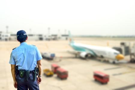 vigilante: Security guard in airport