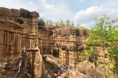 grand hard: Pha Chor Canyon, the Gradn Canyon of Chiang Mai, Thailand Stock Photo