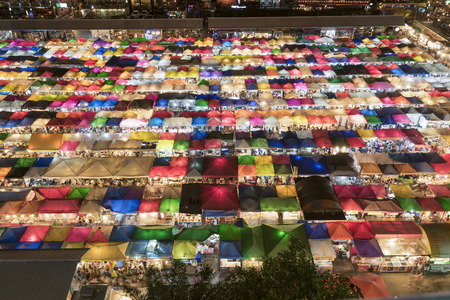 secondhand: colourful Sales of second-hand market in Bangkok