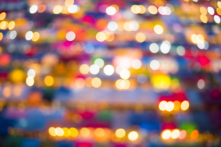 Colorful of blur bokeh outdoor market Stock Photo