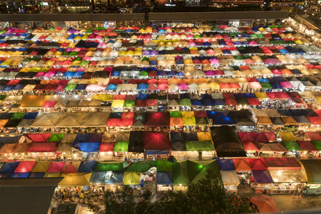 practised: colourful Sales of second-hand market in Bangkok