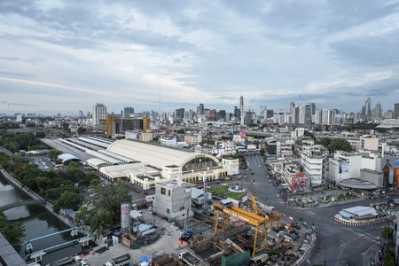 BANGKOK, THAILAND 12 August 2016 100th anniversary: Bangkok Railway Station unofficially known as Hua Lamphong Station the main railway station in Bangkok, Thailand. Editorial