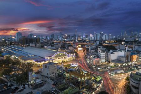 Bangkok Railway Station unofficially known as Hua Lamphong Station in Thailand
