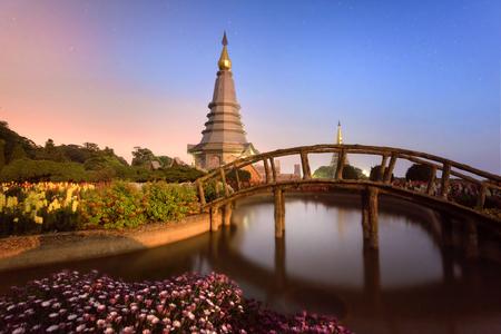 Naphapholphumisiri che-di, doi inthanon national park, chiengmai, thailand.