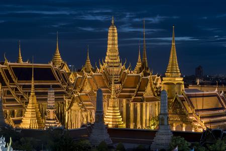 Grand palace and Wat phra keaw at sunset bangkok, Thailand