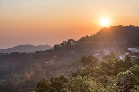 sunrise at Doi Mae Salong Chiang Rai,Thailand