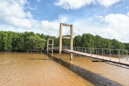 Raksamae Bridge in royong Province Thailand