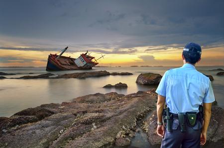 Security guard Ttransportation Stok Fotoğraf
