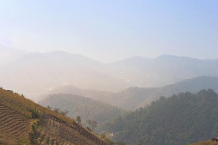 smoke fire in Nort Thailand