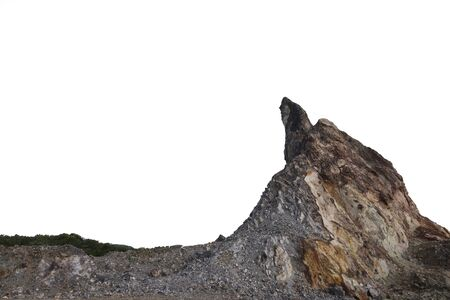 Rock mountain isolated on white