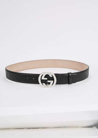 Casual black belt for men Stock Photo