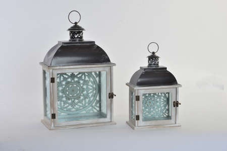 2 SMALL Rustic Wall Mounted Lantern Sconces