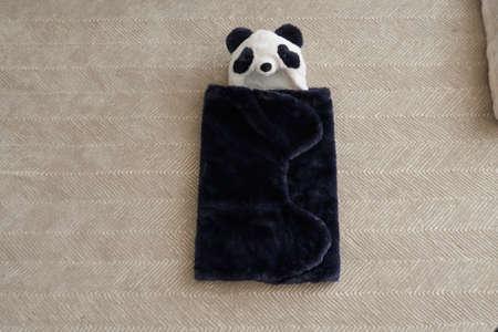 Stuffed animal blanket baby comforter plush bear baby blanket for new born Stock fotó