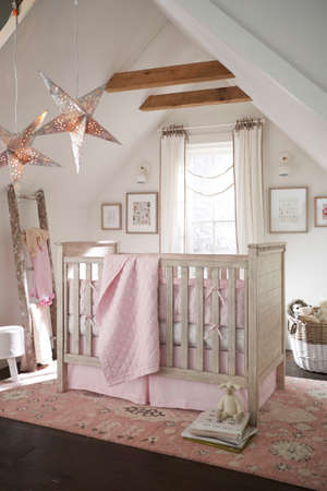 French Style Bedroom Furniture - Linen Winter Cozy Nursery