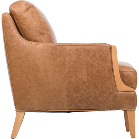Briarwood Modern Leather Club Chair, Living Room Chairs, Mid Century Club  Chair Stock