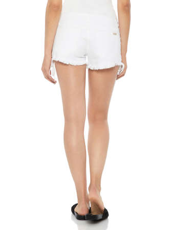 937117b69 White Sexy Short Mini Skirt with Cute Knotted Waistband from Hot Fash Skirts  - SPREE White