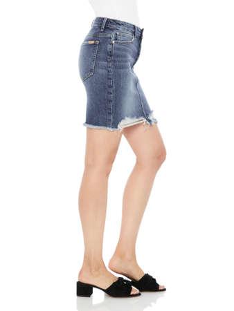 Mid Wash Ripped Denim High Waisted Shorts for Women, Bombshell High Waist Cutoff Denim Shorts, High Waist Acid Wash Ripped Distressed Shorts