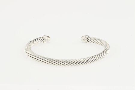 DESIGN bracelet in crystal ball chain in silver tone, SKN Silver Plated Metal Chain Rakhi Bracelet, Luna Diamond Ring, Silver metal bracelet Swarovski Silver in Metal....