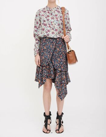 Flower Print Swing A Line Summer Dress Long Sleeve Spring Multicolor Floral , Floral Print A-line Dress with Tie-Up with white background, Flower Print Swing A Line Summer Dress Long Sleeve Spring Multicolor Floral , Floral Print A-line Dress with Tie-Up with white background
