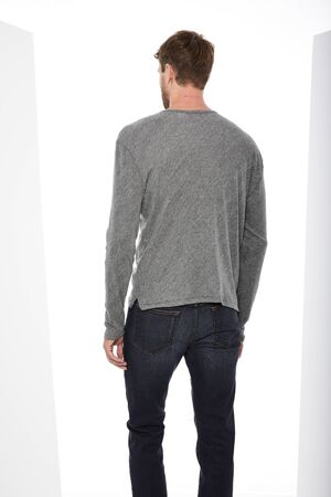 Men casual grey T-Shirt paired, Casual gray T-Shirt paired with black slim fit denim with white background , Men casual grey T-Shirt paired, Casual gray T-Shirt paired with black slim fit denim with white background