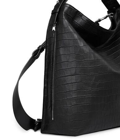 Elegant black bag for official use with white background, Elegant black bag for official use with white background, Elegant plain black wallet for women's with white background Imagens