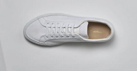 Casual white sneakers for men's with white base with white background, Casual white sneakers for men's with white base with white background