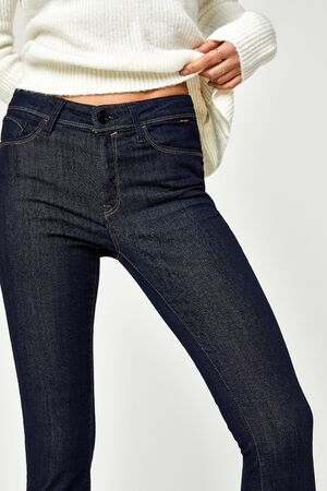 Double Black jeans - Fade Resistant This mid-rise jeans, super skinny hugs every contour of the body, from hip to hem jean.