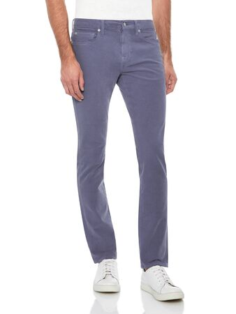 Basic formal trouser for men's paired with black casual sneakers and white background, Casual blue denim paired with white casual T-Shirt and white loafers with white background