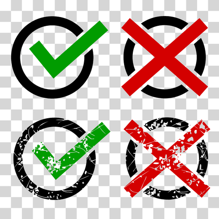 vector Simple icon true and false