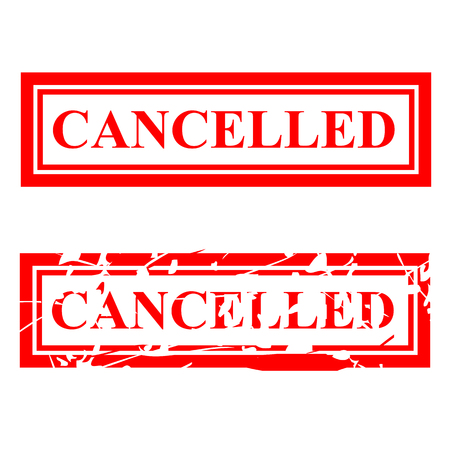 vector Simple Two Style Rubber Stamp Effect, Cancelled Stockfoto