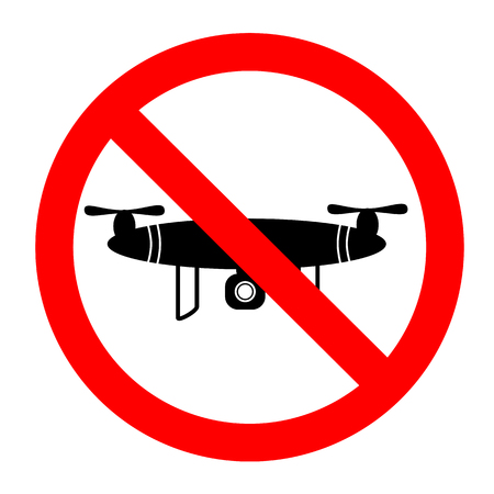 vector Simple Prohibition Sign - No Drone Allowed