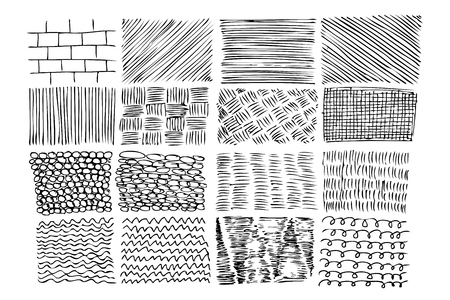 vector sketchy various style of pattern for your element design Stok Fotoğraf
