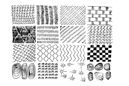 sketchy various style of pattern for your element design Stok Fotoğraf