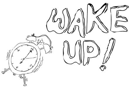 Simple sketch Clock Schedule Stock Photo