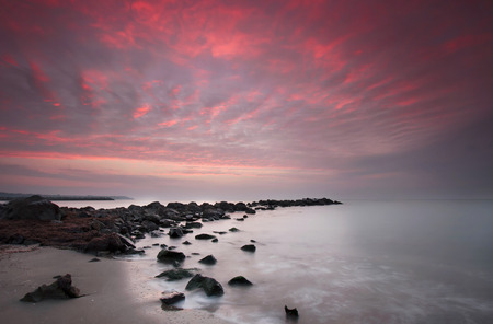 Long exposure sea sunrise photo