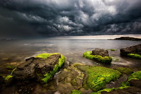 Stormy sea near Varvara, Bulgaria photo