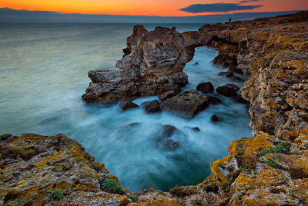 Rock formation The Arch near Tulenovo, Bulgaria photo