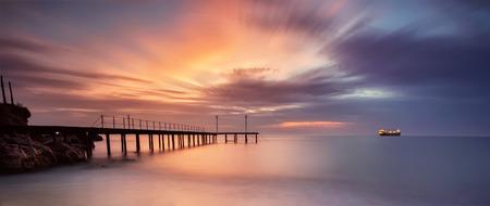 A stunning sea sunrise at the Black Sea coast
