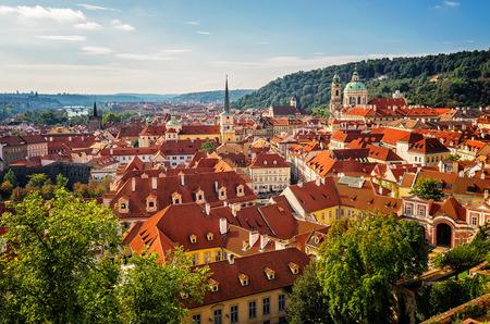czech culture: Aerial view over Old Town in Prague Czech Republic