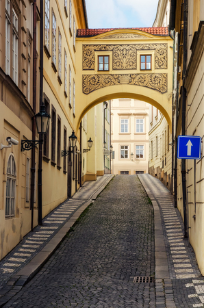 czech culture: Small street in the Old Town in Prague, Czech Republic