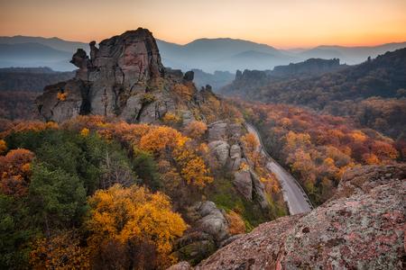 Magnificent night view of the Belogradchik rocks, Bulgaria