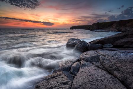 Magnificent sunrise view at the Black sea coast, Bulgaria Фото со стока