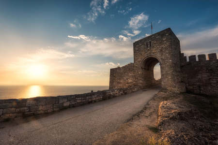 A sunrise view of the ancient fortress Kaliakra near Kavarna, Bulgaria