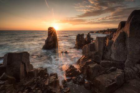 Sea sunrise at the Black Sea coast near Sozopol, Bulgaria