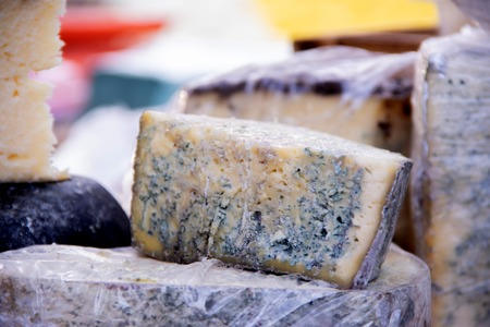 Blue cheese on a street food fastival