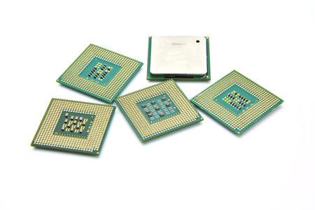 computer cpu: Computer CPU Processor Chip