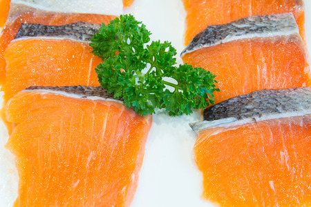 redfish: salmon fillet ready to cook