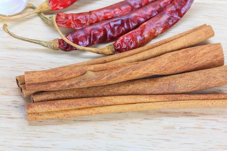 cinnamon stick: Close up cinnamon stick on wooden background Stock Photo