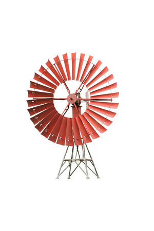 blowing of the wind: Wind mill isolated on white background