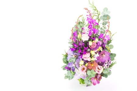 ramo de flores: Hermoso ramo de flores, espacio de copia Foto de archivo